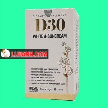 D30 White Suncream